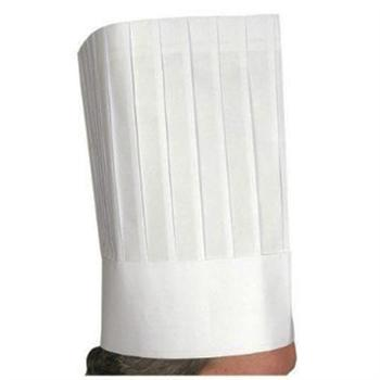 "Winco Disposable 12"" Paper Chef's Hat, 10 Count Pack"