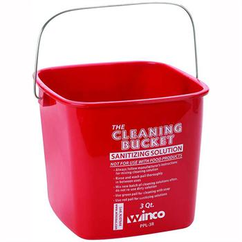 Winco 3 Quart Sanitation Bucket