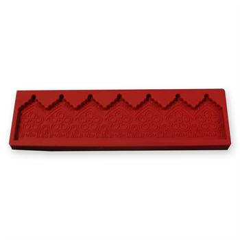 Fat Daddios Red Silicone Lace Border Mold