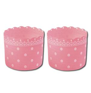 Welcome Home Brands Pink Polka Dot Baking/Dessert Cups