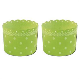Welcome Home Brands Green Polka Dot Baking/Dessert Cups