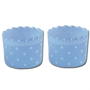 Welcome Home Brands Blue Polka Dot Baking/Dessert Cups