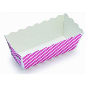 Welcome Home Brands Pink Stripe Mini Loaf Baking Cups