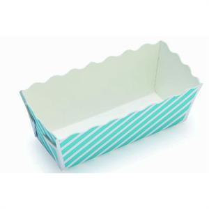 Welcome Home Brands Blue Stripe Medium Loaf Baking Mold