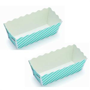 Welcome Home Brands Blue Stripe Mini Loaf Baking Cups