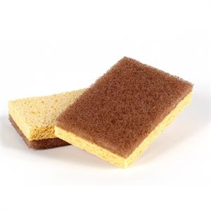 Full Circle Walnut Scrubber Sponges, 2-pack