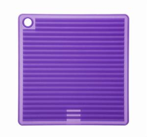 Orka Purple Square Silicone Pot Holder/Trivet