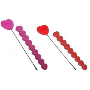 Zeal Perfect Bake Silicone Heart Cake Tester, Assorted Colors