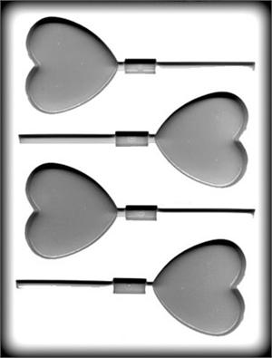 CK Products Large Heart Sucker Hard Candy Mold