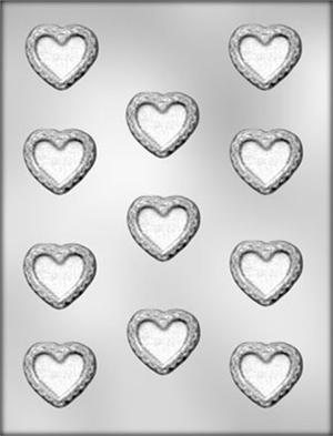 CK Products 1 Inch Heart Mini Chocolate Sucker Mold