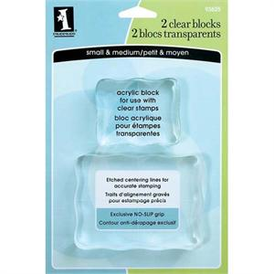 Inkadinkado Clear Acrylic Stamping Blocks 2-pc. Set