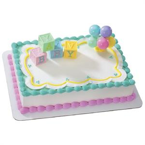 Decopac B A B Y Blocks Cake Kit