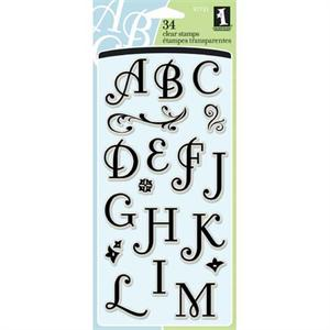 Inkadinkado Clear Stamp Coffee House Alphabet Set