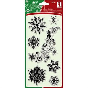 Inkadinkado Clear Stamp Snowflakes A-Plenty Set