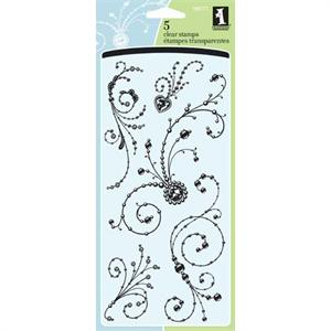 Inkadinkado Clear Stamp Gem Stone Flourishes Set