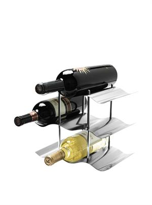 OGGI 9 Bottle Stainless Steel Wine Rack