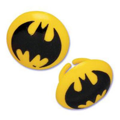 Bakery Crafts Batman Symbol Rings, 36 Count Pack