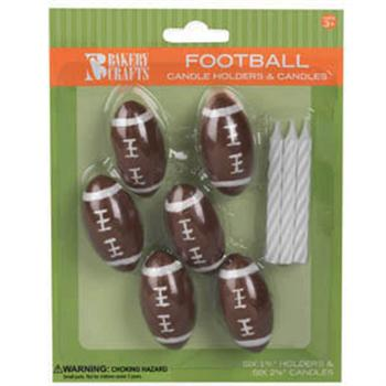 Bakery Crafts Bakery Crafts Football Candles With Holders
