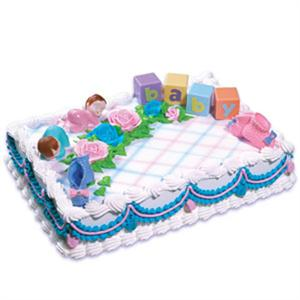 Bakery Crafts Sleeping Babies With Blocks Cake Kit
