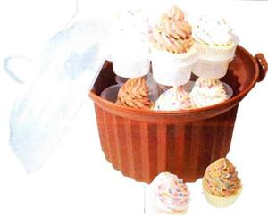 Chocolate Brown Cupcake Carousel