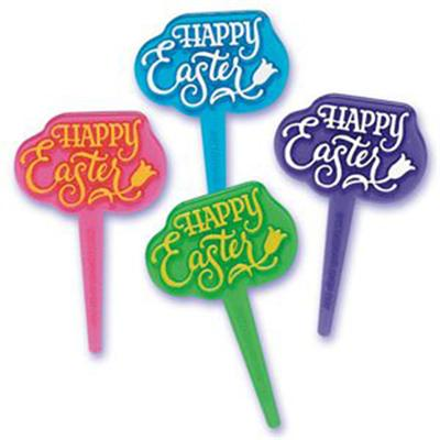 Bakery Crafts Happy Easter Cupcake Picks, 36 Count
