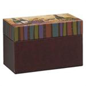 Ganz Wine Design Recipe Card Box With Cards