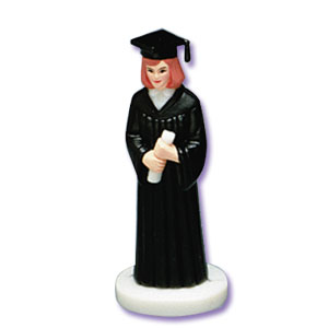 Bakery Crafts Girl Grad Cake Toppers