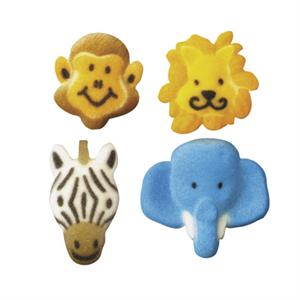 Lucks Jungle Animals Sugar Decorations