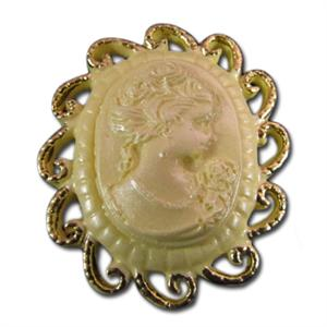 Silicone Brooch Cameo Scroll Mold