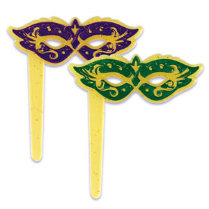 Bakery Crafts Mardi Gras Mask Picks