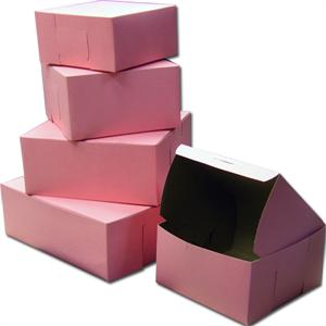 Pink Food Safe Cake Boxes
