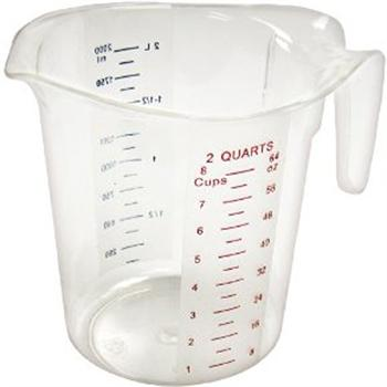 Winco 2 Quart Polycarbonate Measuring Cup
