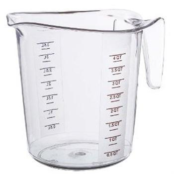 Winco 4 Quart Polycarbonate Measuring Cup