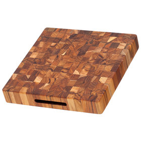 ProTeak end grain square cutting board