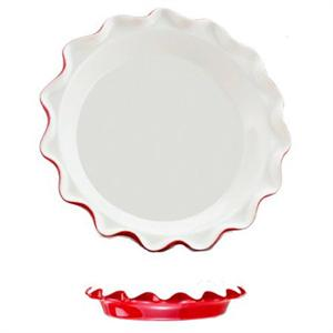 Harold Imports Rose Levy Beranbaum's Rose's Perfect Pie Plate, Red