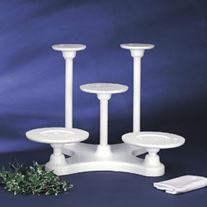 Bakery Crafts 5 Tiered Disposable Cake Stand
