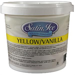Satin Ice Yellow Rolled Fondant 5 Lb