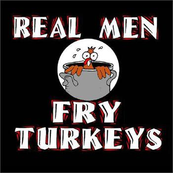 Funny Apron Company Real Men Fry Turkeys Adult Apron