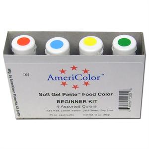 AmeriColor Soft Gel Paste Beginner Food Color Kit