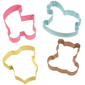 Wilton 4-Piece Baby Theme Cookie Cutter Set