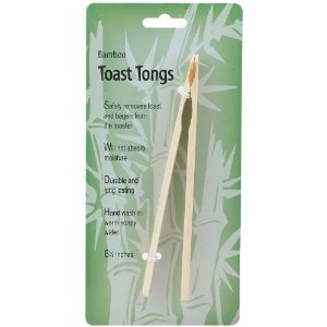 Bamboo Wooden Toaster Tongs
