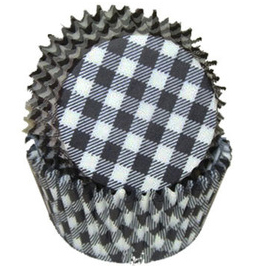 TBK Black Gingham Baking Cups
