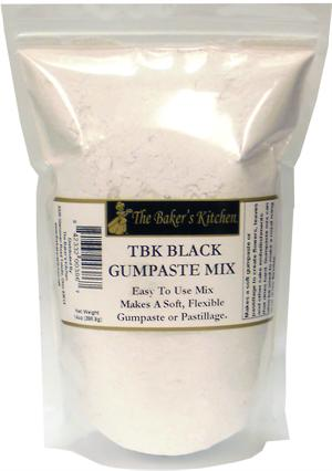 TBK Black Gumpaste Mix - 14 Ounce Bag