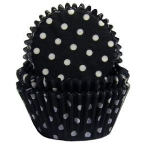 TBK Black Polka Dots Baking Cups