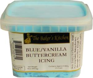 TBK Blue-Vanilla Buttercream Icing - 12 Ounce
