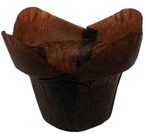 Brown Lotus Baking Cups