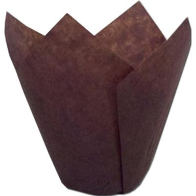 TBK Brown Tulip Baking Cups