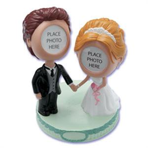 Bakery Crafts Bobble Head Bride and Groom