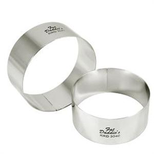 Fat Daddio's Round 4-in x 2-in Stainless Steel Pastry Rings