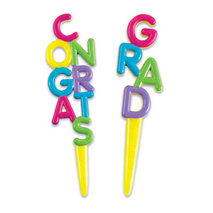 Bakery Crafts Congrats Grad Cupcake Picks